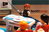 a group of Lego people learning about technology in a TechSoup classroom