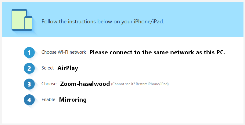 Follow the instructions provided to connect your iOS device