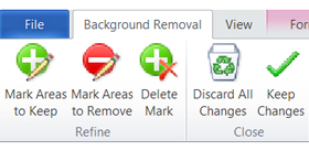 Remove Background option in the Picture Tools tab