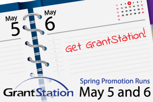 GrantStation Spring Promotion runs May 5 and 6