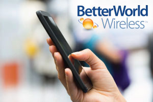Mobile phone with BetterWorld Wireless