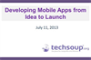 Developing Mobile Apps from Idea to Launch: A Case Study