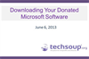 Downloading Your Donated Microsoft Software Through TechSoup