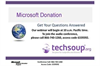 Microsoft Donation Program: Get Your Questions Answered